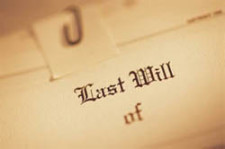 Image of a Last Will & Testament.